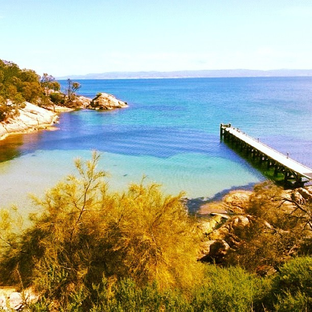 The perfection of Tasmania's East Coast and the pier at Freycinet; yes, there are coves and bays like it - but not EXACTLY like it.