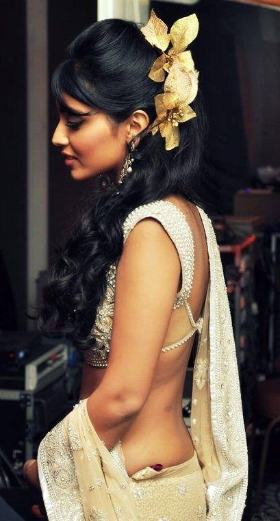 Half Blouse Backless Saree