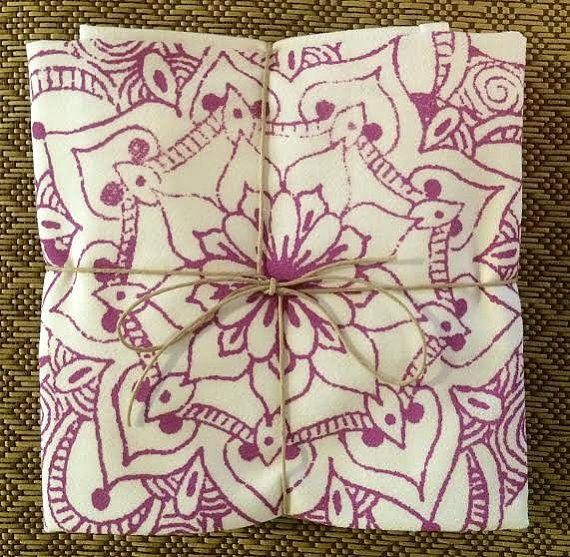 Sac de farine Mandala serviettes Set de deux par ReEcoShop sur Etsy