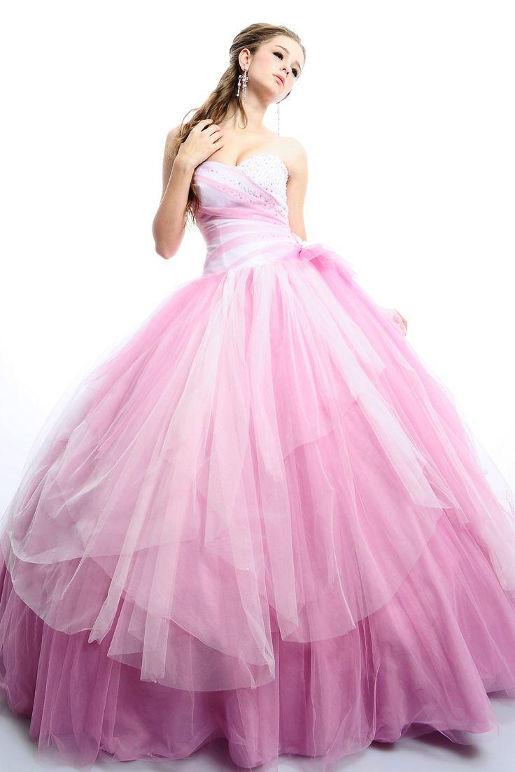 فساتين سهرة بالون pink البينك تصميمات قصيرة وطويلة