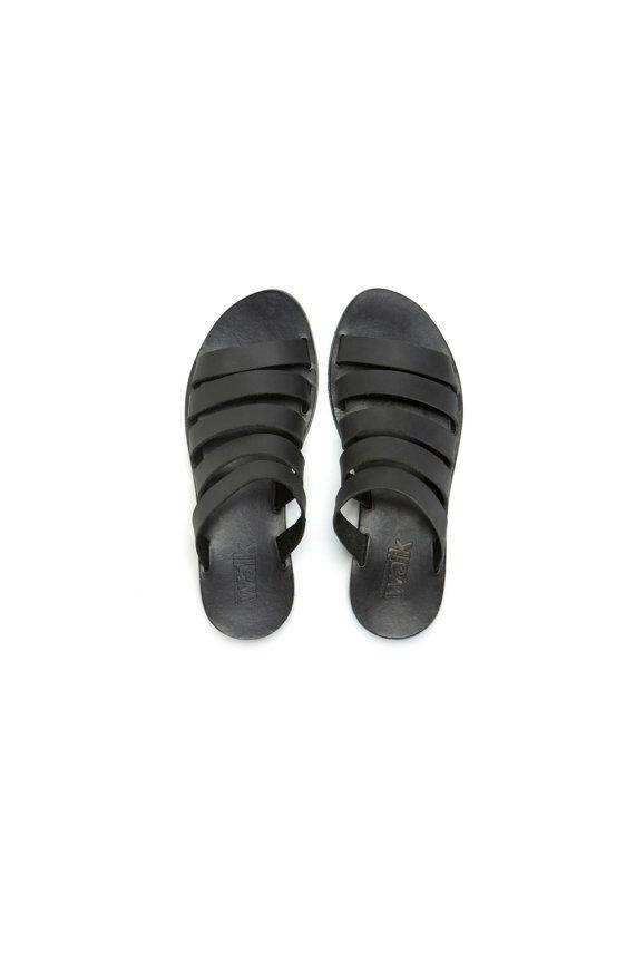 Women Black Straps sandals by WalkByAnatDahari on Etsy, $220.00