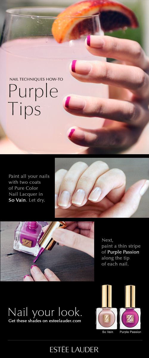 Nail Techniques How-To: Purple Tips #manimonday