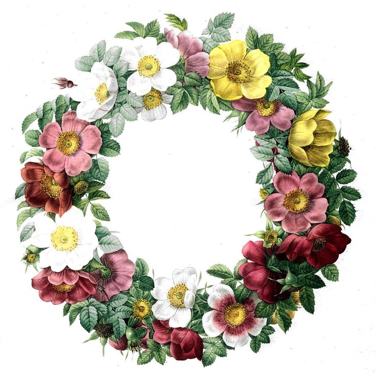 Items Similar To Vintage Floral Wreath Temporary Tattoo On Etsy
