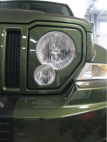 2012 Liberty front grill an lens makeover...