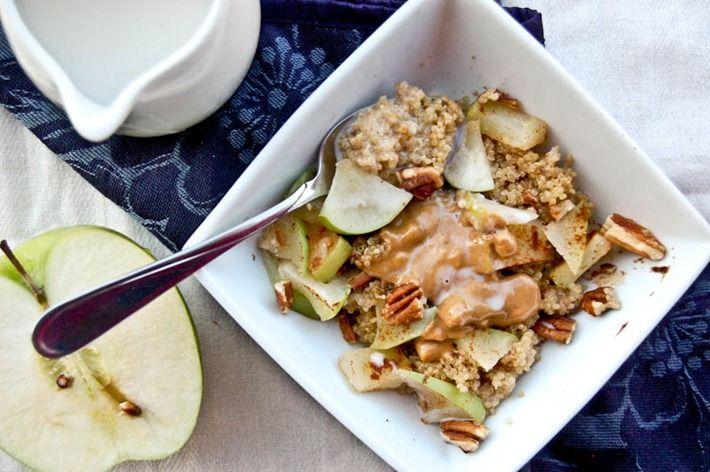 Apple and Peanut Butter Breakfast Quinoa