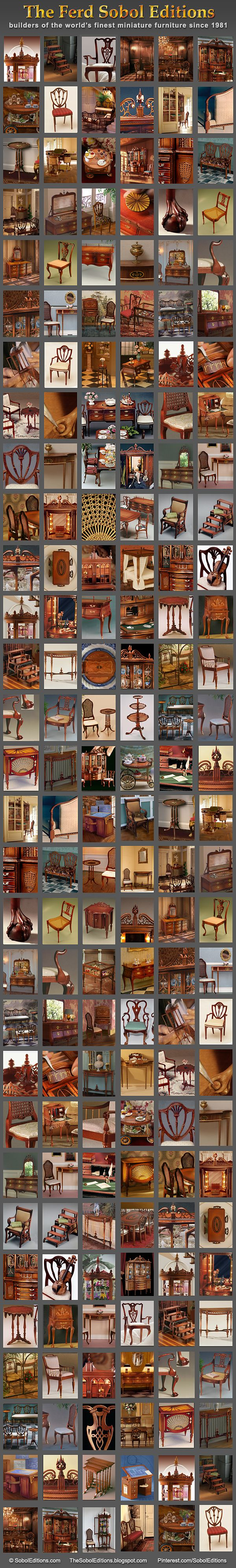 The Ferd Sobol Editions has been building some of the world's finest miniature furniture since 1981. See more at the website and at the blog: SobolEditions.com TheSobolEditions.blogspot.com