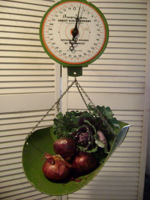 Antique Kitchen Scales for Sale | Vintage 'American Family Scale' - Green Metal Scale from 50's and 60's ...