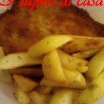 Cotoletta di pollo con patate a spicchi