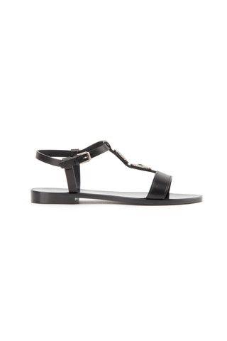 Saint Laurent leather black sandals - LuxuryProductsOnline