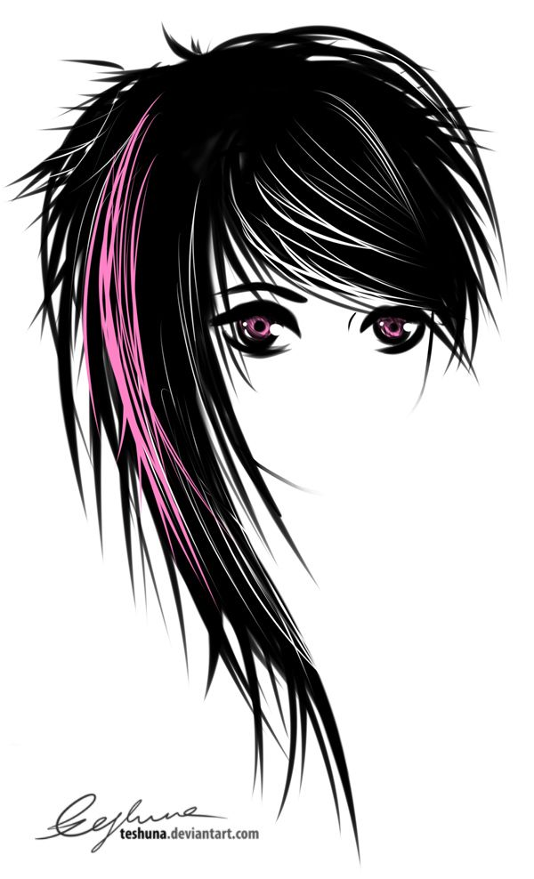 Gallery For gt Emo Girl Hair Drawing