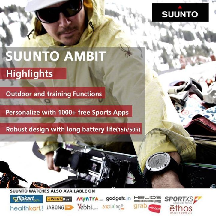 For ardent explorers and enduring athletes, Suunto brings forth 'Ambit Silver' wristop computer watch!