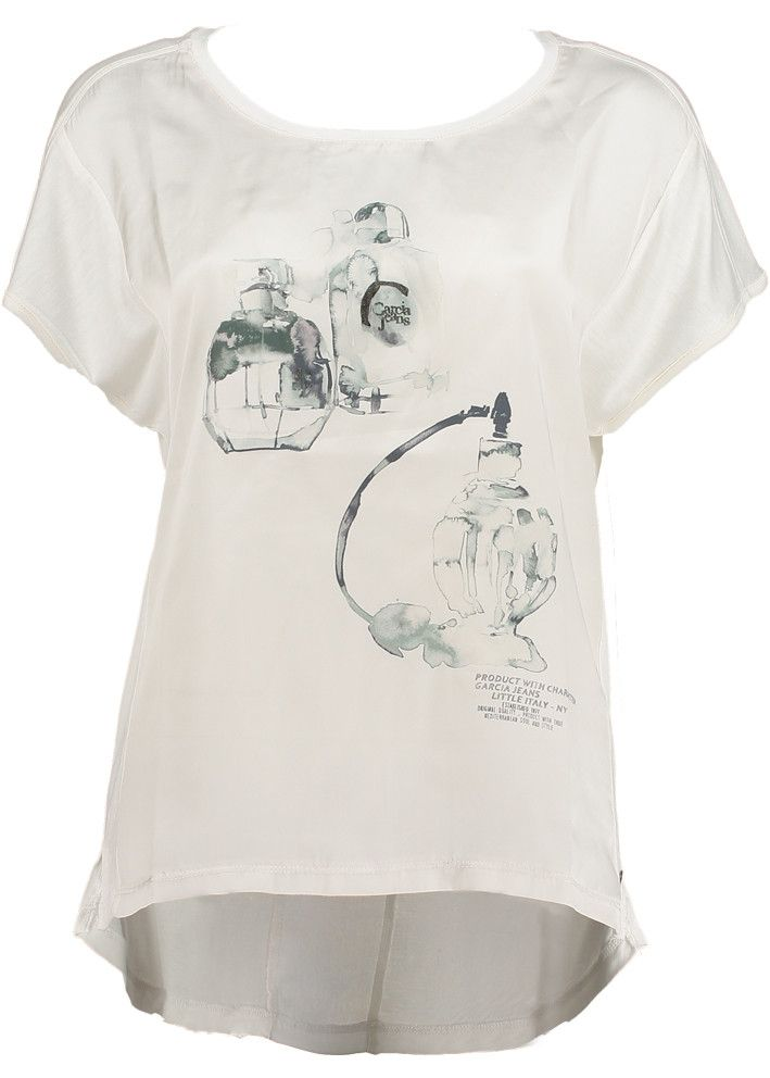 Garcia T-shirt med print L50006 Ladies t-shirt spring white – acorns