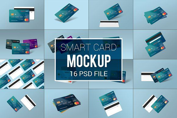 Smart Card Mockup Template By Alimran24 On Creativemarket Mockup Template Mockup Cards