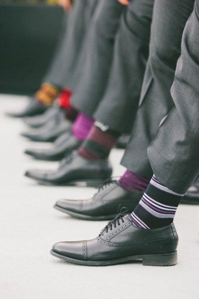 a lineup of colour - great socks #loveit