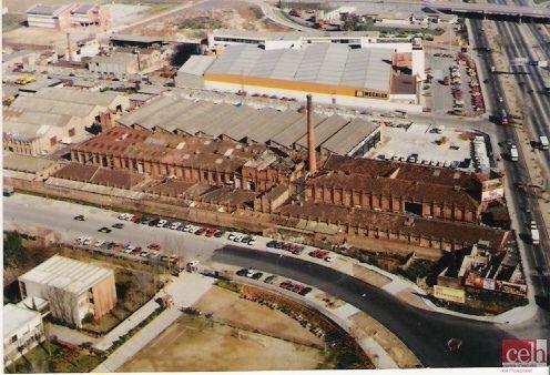 Fábrica textil de yute Godó y Trias, L'Hospitalet de Llobregat (1987). Fuente: Centre d'Estudis de L'Hospitalet (CELH)