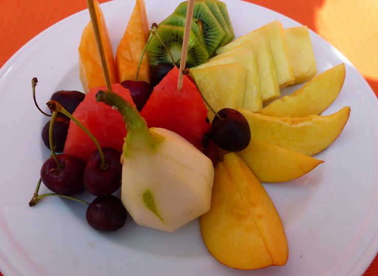 Fresh fruit - all you need on a hot day at One Fire Beach in Praiano