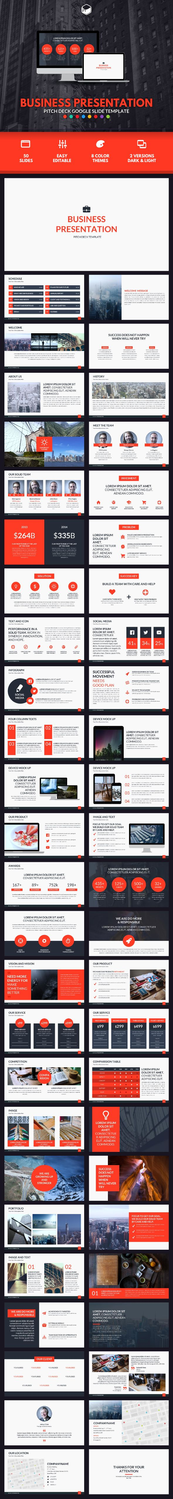 Business Presentation - Pitch Deck Google Slide Template #design Download: http://graphicriver.net/item/business-presentation-pitch-deck-google-slide-template/14376118?ref=ksioks