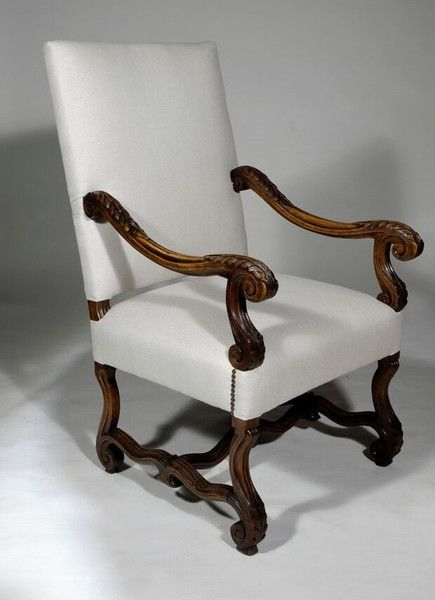 Pair of French Louis XIII Style Armchairs // 20th Century