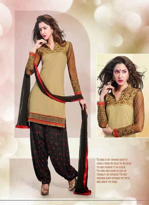 Dashing Black & Red Shantoon Based Salwar #Suit With Zari Work #salwarkameez #ethnicwear #womenapparel #womendresses