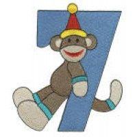Birthday Sock Monkey Numbers Filled