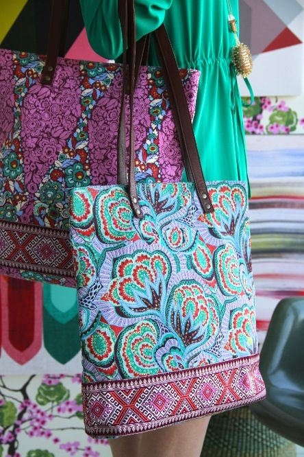 Amy Butler S Carmen Tote Part Of The Hapi Sunrise Collection From Kalencom Bags Diy 2 Pinterest And