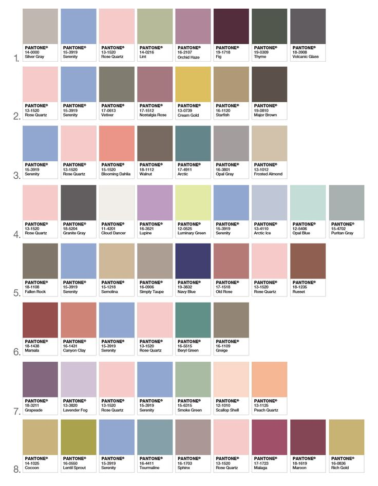 How to combine color of the year 2016 – look at these samplers of colors, which fit perfectly with colors of the year Rose Quartz and Serenity.
