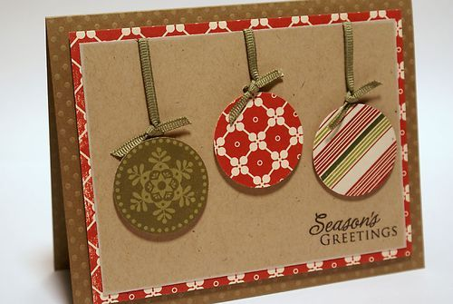 christmas card --- the ornaments would be a good use of scrap paper