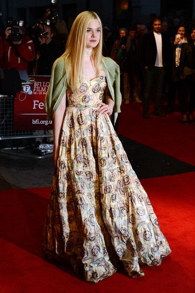 Actress Elle Fanning attends the premiere of 'Ginger and Rosa' during the 56th BFI London Film Festival at Odeon West End on October 13, 2012 in London, England.