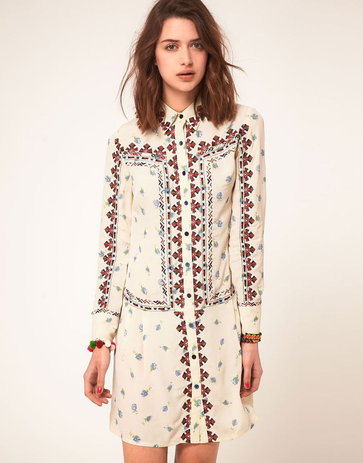 Shirt dress: Shirtdress, Style, Shirts, Clothing, Floral Embroidered, Dresses, Asos Floral