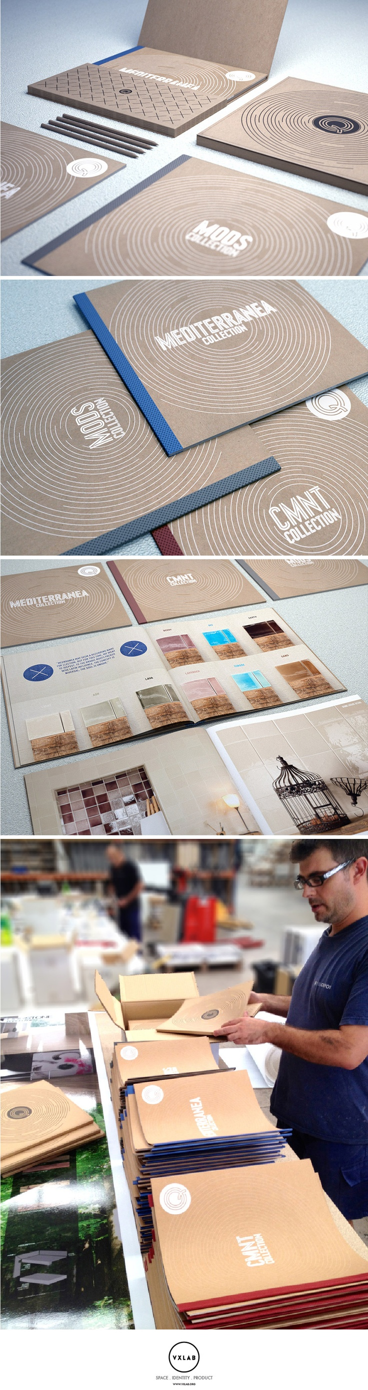 Catalogue: Brochure Set Design for Q Tiles. Design by VXLAB. www.vxlab.org