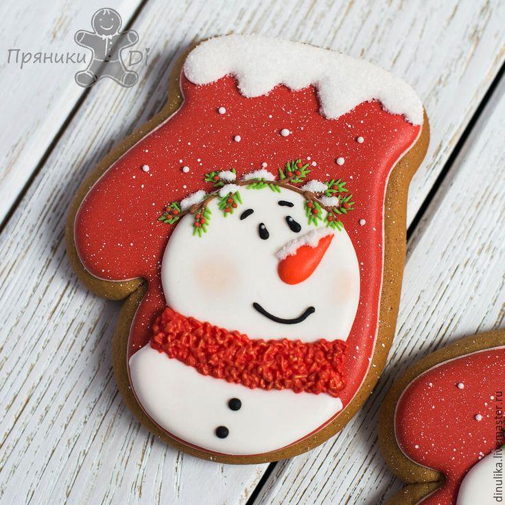 Купить Имбирные пряники новогодние - пряник, имбирный пряник, расписные пряники, печенье, имбирное печенье