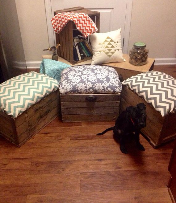 Hey, I found this really awesome Etsy listing at https://www. Crate OttomanOttoman  StorageDiy ... - 25+ Best Ideas About Crate Ottoman On Pinterest Pallet Ottoman