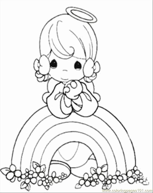 Rainbow Coloring Pages For Adults Awesome Moments Rainbow Coloring Page Printable Coloring In 2020 Precious Moments Coloring Pages Angel Coloring Pages Coloring Books