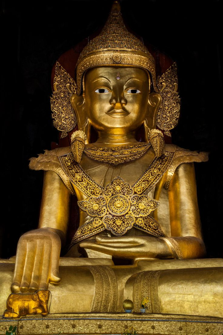 A magnificent ancient Buddha image in Pindaya Cave, Shan State, Myanmar