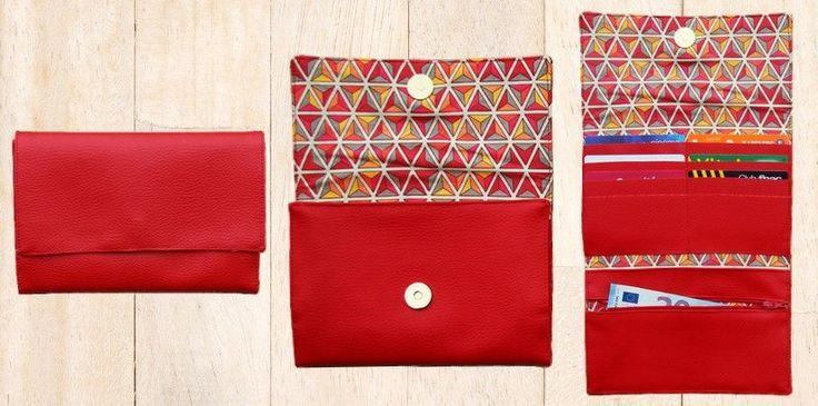 Après les ateliers couture, profitez du tuto pour confectionner vous-même un porte-cartes personnalisé et assorti à votre porte-chéquier et votre sac à main