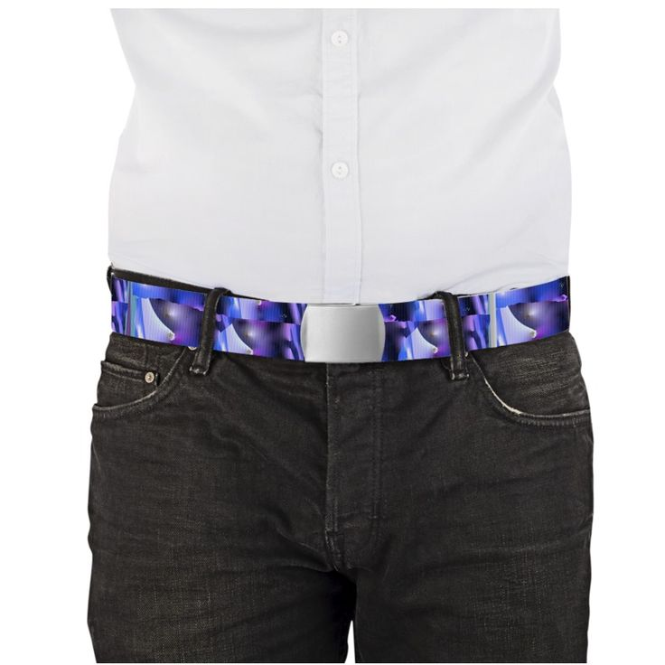 """""""Fondali""""  - Length 120 cm X 3.8 cm Choice of buckle: black or metal. The belts are printed on both sides"""
