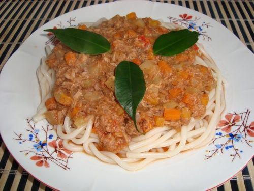 Tuna sauce spaghetti recipe