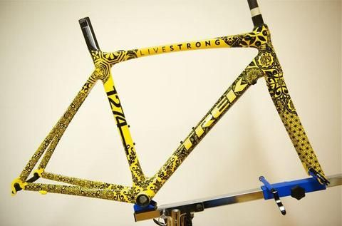 Custom bike made for Lance Armstrong by Shepard Fairey