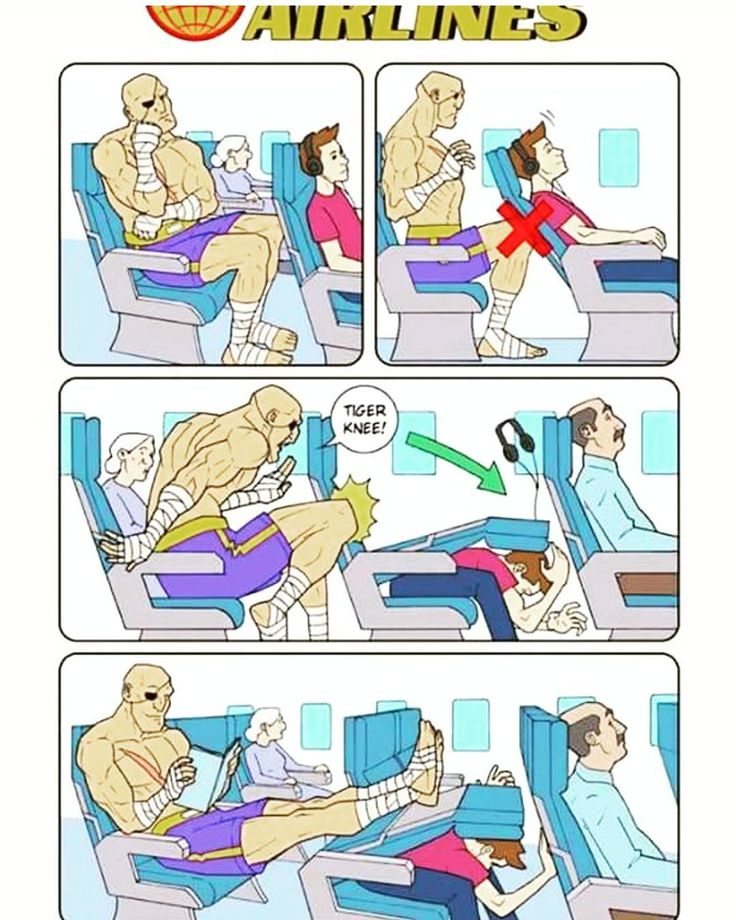 Have you ever been put in this position? When in doubt. Use the tiger knee  #muaythai #nakmuay #streetfighter #airplane #airline #tall #tigerknee