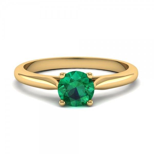 Einzigartiger #Smaragd #Verlobungsring in Gold von #VERLOBUNGSRING.de
