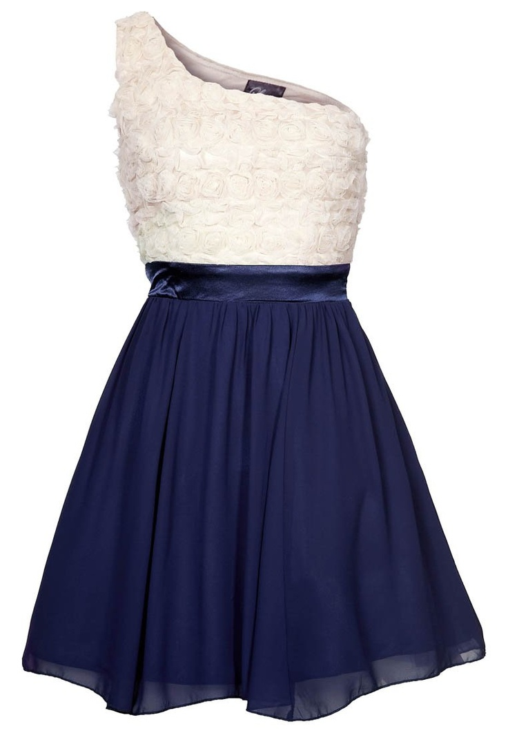 Cocktailkleid / festliches Kleid - cream/navy