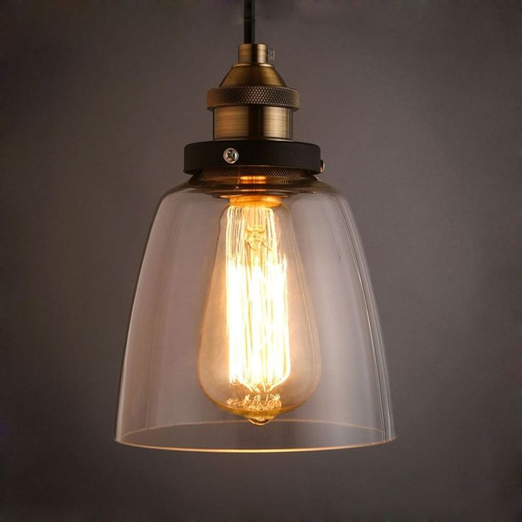 WinSoon X Inch Design Vintage Industrial Ceiling Lamp Clear Glass Pendant Lighting For Kitchen Island Loft Shade Fixture Find Out More Details By