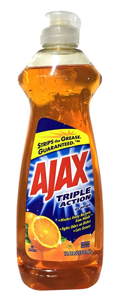 Ajax Triple Action Orange Dish Liquid/Hand Soap removes grease from dishes and washes away bacteria from hands. Experience the powerful cleaning of Ajax that leaves your dishes sparkling clean. Ajax Triple Action Dish Liquid Orange 12.6 fl oz  #buythecase