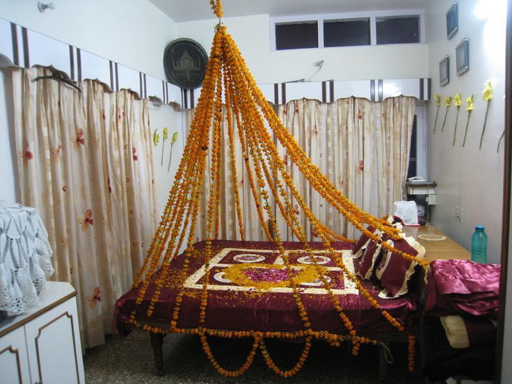 Flower Bed An Indian Ritual To Welcome The Bride Into Her Husband S Home But Could Make A Little Princess Smile I Think Like Idea Of Four Poster