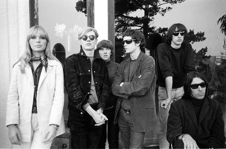 The Velvet Underground, Nico, and Andy Warhol looking the epitome of cool, NYC, 1960s