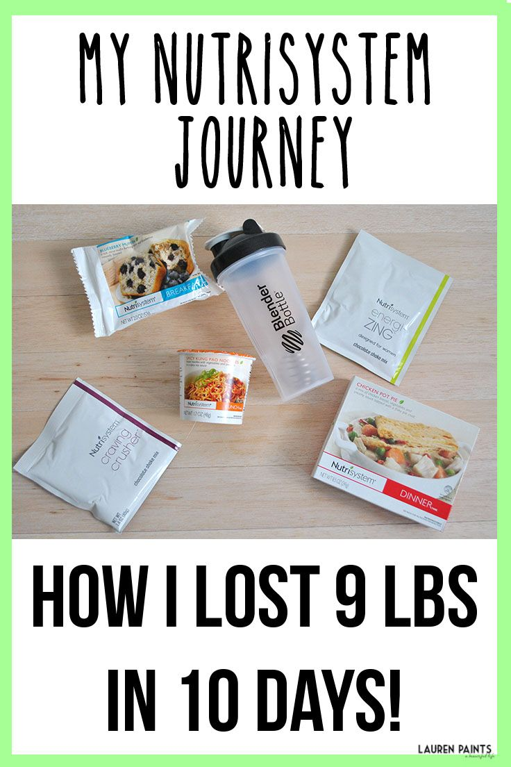 How i lost 9lbs in 10 days sharing the pros cons of nutrisystem