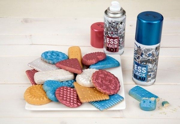 Edible spray paint?! I'm not sure I would actually eat this, but it's awesome...