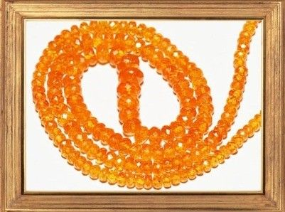 "SALE AAA Mandarin Spessartite Garnet 20"" necklace 4 to 8mm necklace,gemstone necklace, garnet necklace"