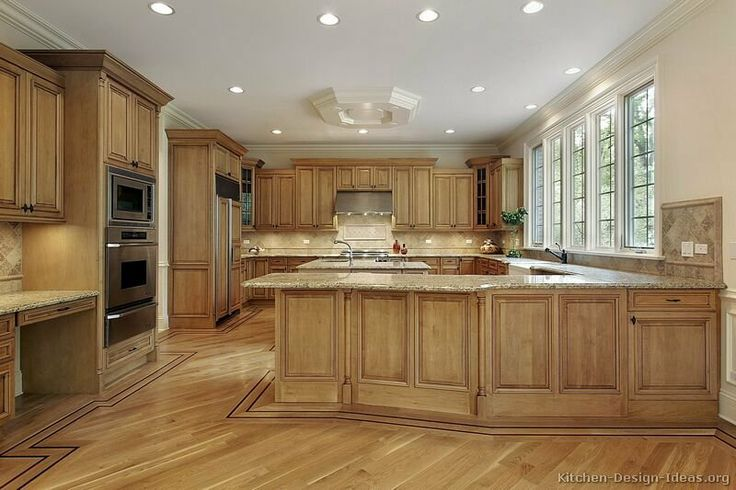 Best Kitchen Of The Day Warm Inviting Medium Brown Kitchen 400 x 300