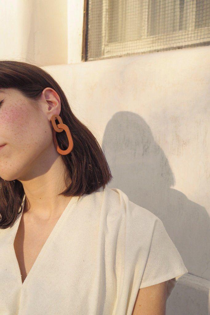 Camila Earrings in Terra Cotta